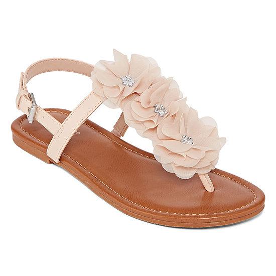 Arizona Womens Axton Adjustable Strap Flat Sandals