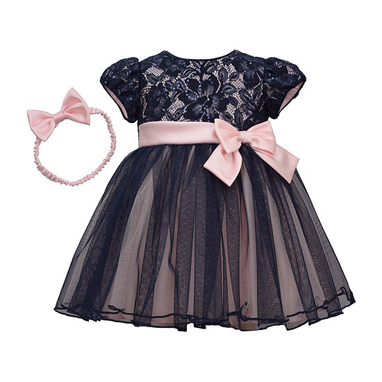Bonnie Jean 2-pc. Girls Short Sleeve A-Line Dress - Baby