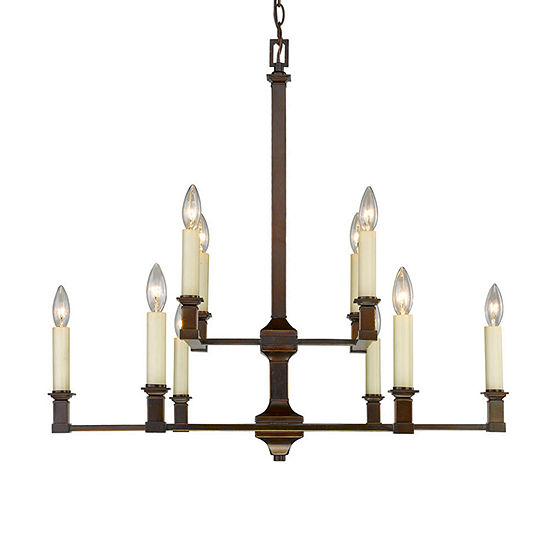Bradley 2 Tier 10 Light Chandelier In Cordoban Bronze