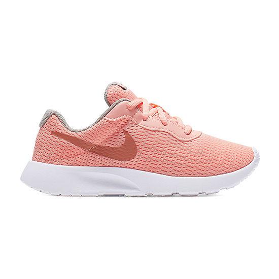 Nike Tanjun Little Kids Girls Lace-up Running Shoes