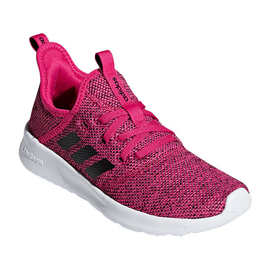 Adidas Cloudfoam Pure K Girls Lace Up Running Shoes