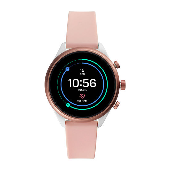 Fossil Smartwatches Sport Smartwatch Womens Pink Strap Watch-Ftw6022