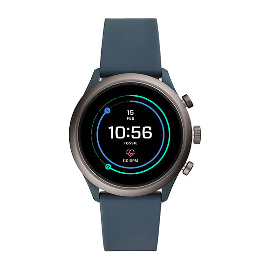 Fossil Smartwatches Sport 43mm Mens Blue Smart Watch-Ftw4021