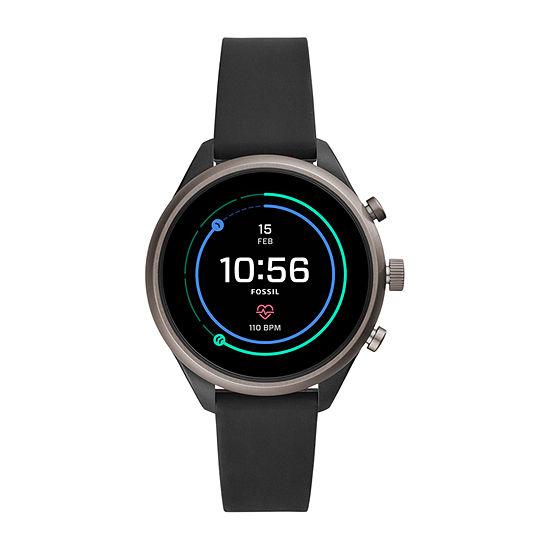 Fossil Smartwatches Sport 41mm Unisex Black Smart Watch-Ftw6024