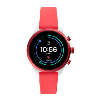 Fossil Q Sport 41mm Unisex Red Smart Watch-Ftw6027
