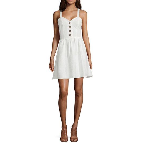My Michelle-Juniors Sleeveless Fit & Flare Dress