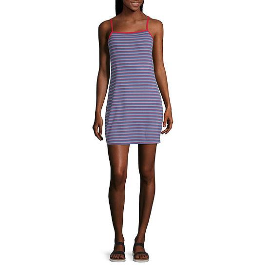 Arizona Sleeveless Striped Dress-Juniors