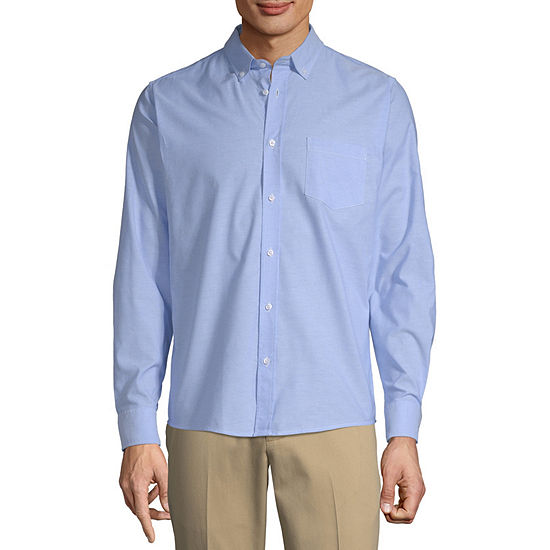 IZOD Young Mens Long Sleeve Button-Front Shirt
