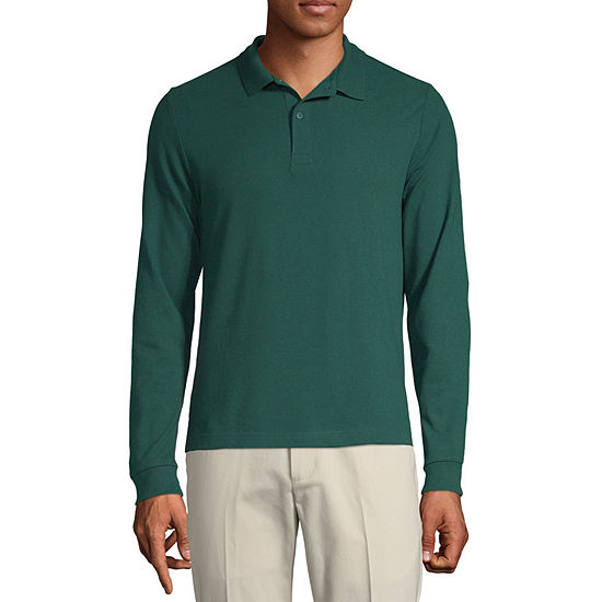 IZOD Young Mens Long Sleeve Polo Shirt