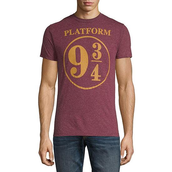 Mens Crew Neck Short Sleeve Harry Potter Graphic T-Shirt