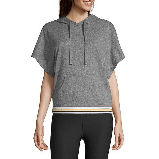 Xersion Womens Hooded Neck Short Sleeve Hoodie