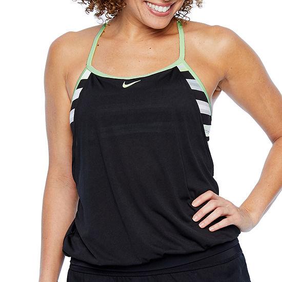 21fe4ba85f19b Nike Stripe Blouson Swimsuit Top JCPenney