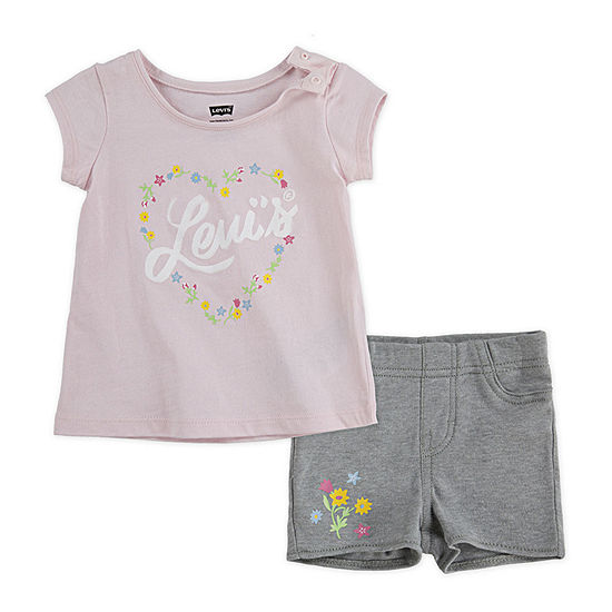 Levi's Girls 2-pc. Short Set Baby