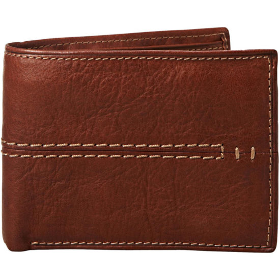 Men's Relic® Channel Leather Traveler Wallet