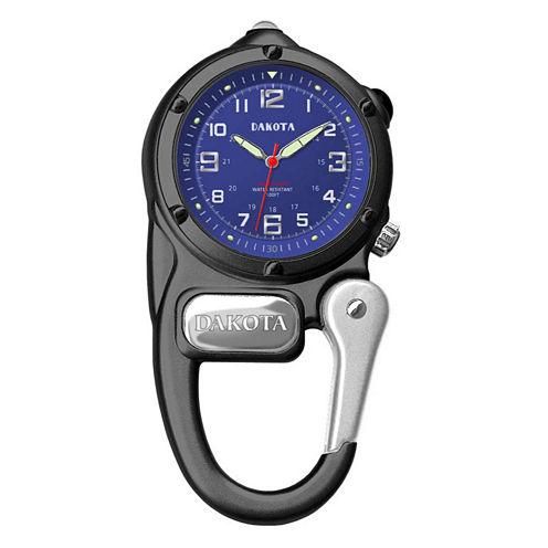 Dakota Mini Clip Microlight Carabiner, Black Pocket Watch 38024