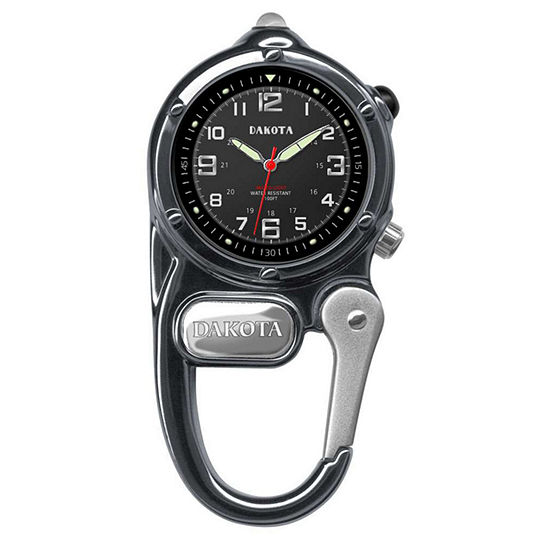 Dakota Mini-Clip Microlight Carabiner Pocket Watch, Gunmetal