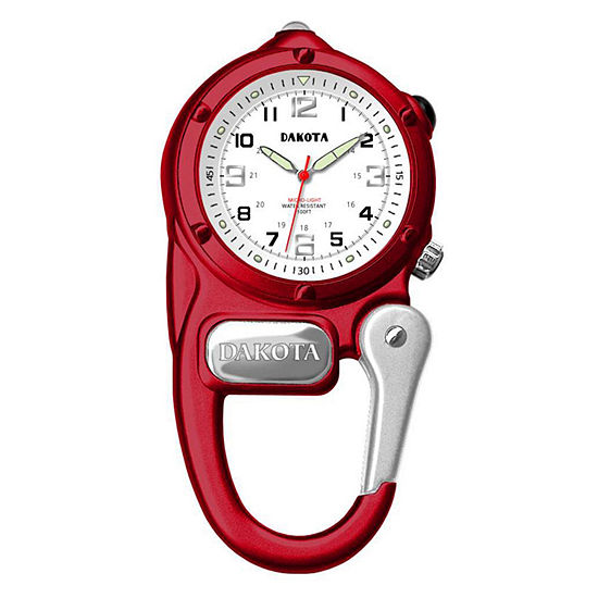 Dakota Mini Clip Microlight Carabiner Red Pocket Watch 38792