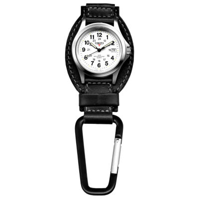 Dakota Men's Black Leather Hanger Field Clip Watch 35526