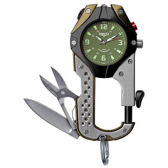 Dakota Mens Green Knife Clip Watch 87630