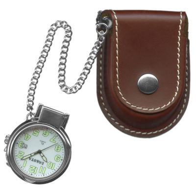 Dakota Men's Leather Pouch Pocket Watch 38462