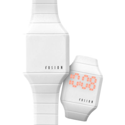 Dakota Fusion Kids Mini Hidden LED Watch, White 52499
