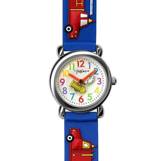 Dakota Fusion Kids' Blue Firetrucks Watch