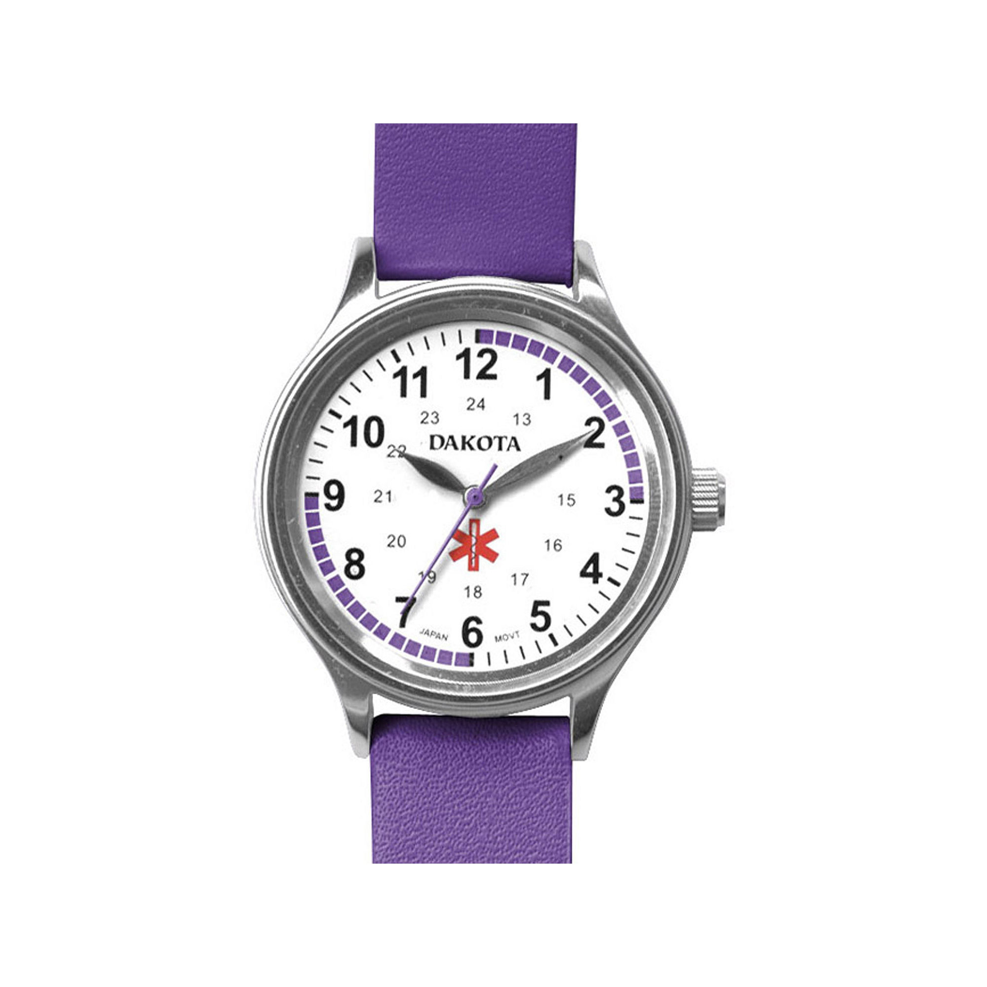 Dakota Women's Fun Color Nurse Watch, Purple