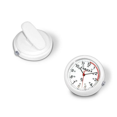 Dakota Nurse Clip White Pocket Watch