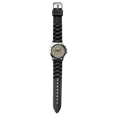 Dakota Women's Silicone Color EL Strap Watch, Black