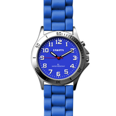 Dakota Women's Silicone Color EL Strap Watch, Blue