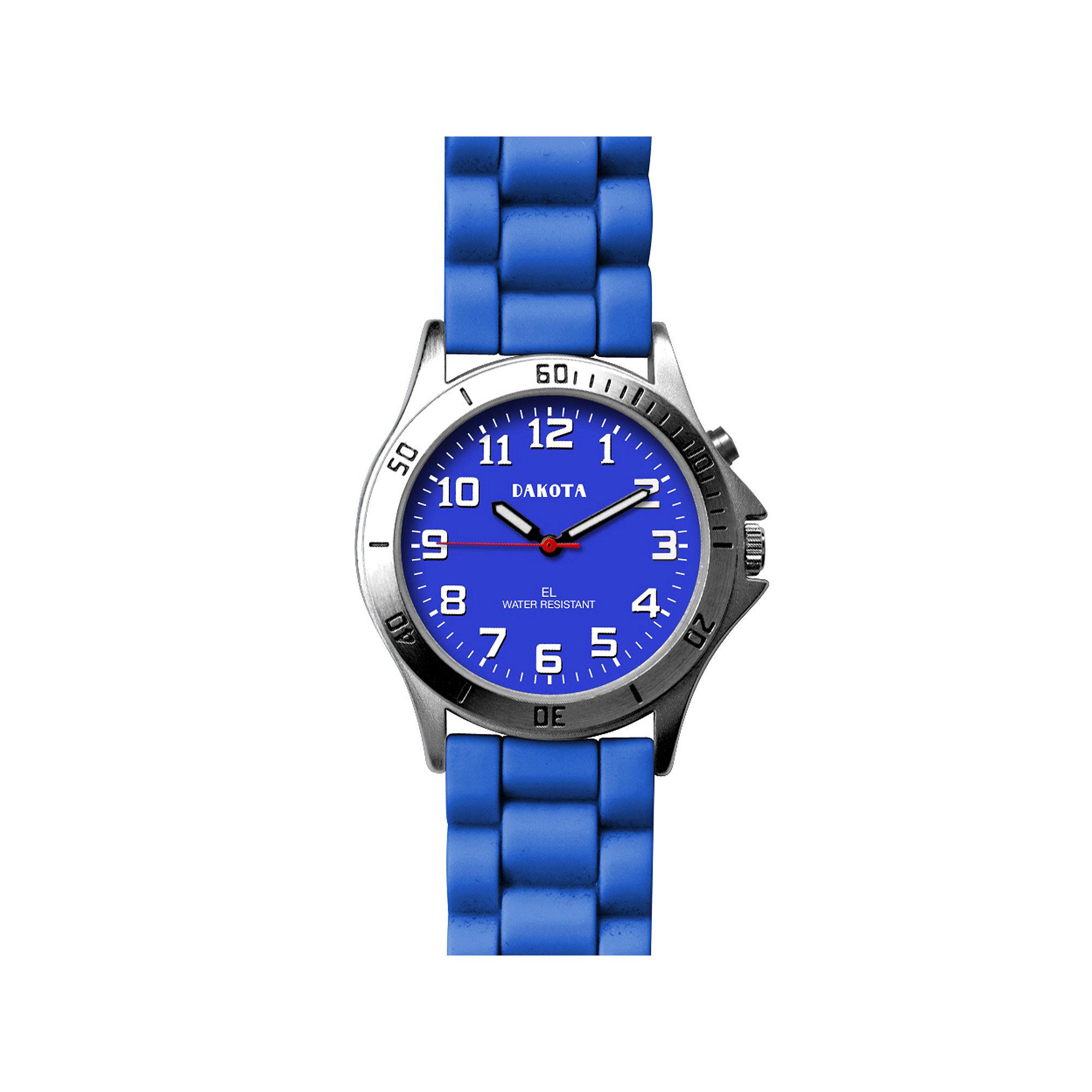Dakota Women's Silicone Color EL Strap Watch, Blue
