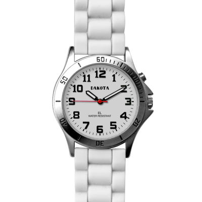 Dakota Women's Silicone Color Watch, White 53881