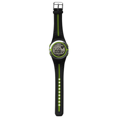 Dakota Black and Lime Green Heart Rate Monitor Watch 36910
