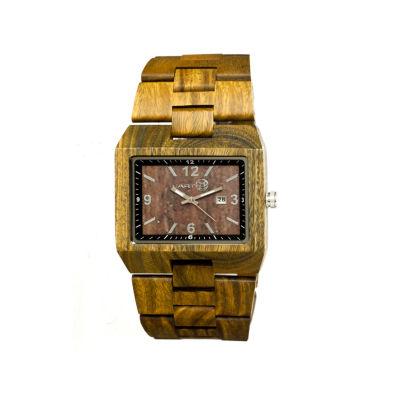 Earth Wood Rhizomes Olive Bracelet Watch With Date Ethew1204