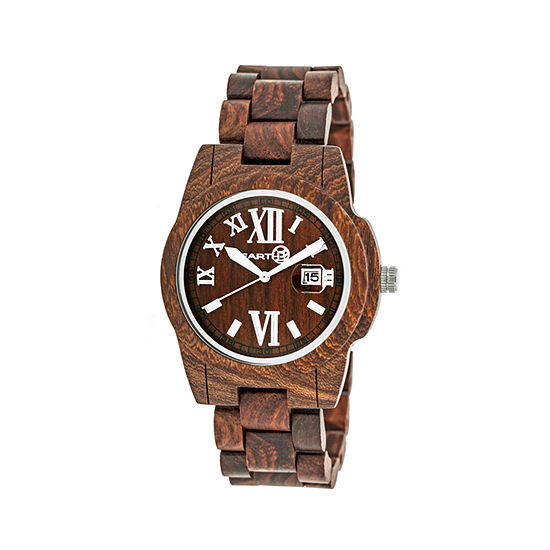 Earth Wood Red Bracelet Watch