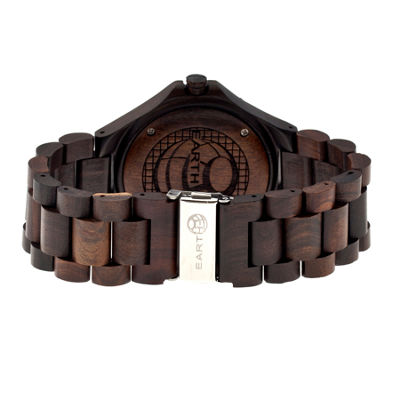 Earth Wood Raywood Dark Brown Bracelet Watch With Date Ethew1702