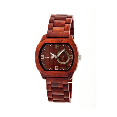Earth Wood Scaly Red Bracelet Watch with Date ETHEW2103