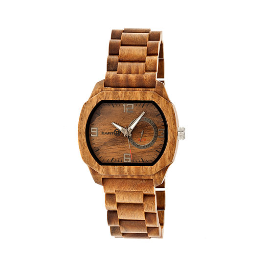 Earth Wood Scaly Olive Bracelet Watch with Date ETHEW2104
