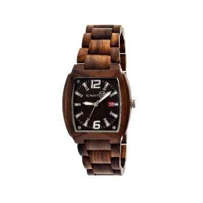 Earth Wood Sagano Dark Brown Bracelet Watch with Date ETHEW2402