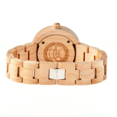 Earth Wood Root Skateboard-Dial Khaki Bracelet Watch ETHEW2505