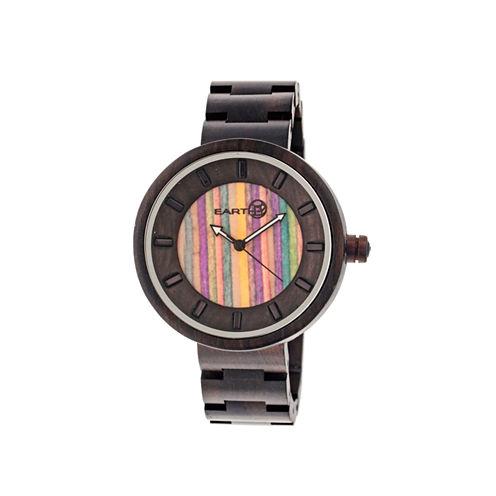 Earth Wood Root Skateboard-Dial Dark Brown Bracelet Watch ETHEW2506