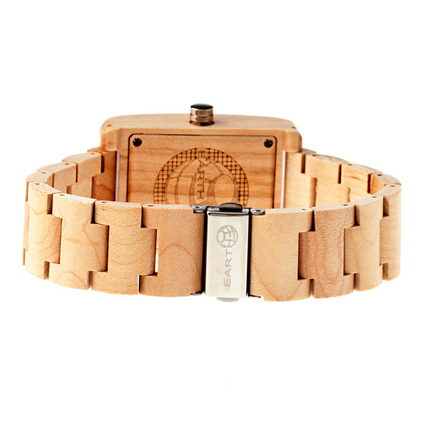 Earth Wood Trunk Khaki Bracelet Watch with Date ETHEW2601