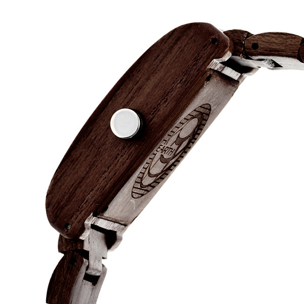 Earth Wood Trunk Dark Brown Bracelet Watch with Date ETHEW2602