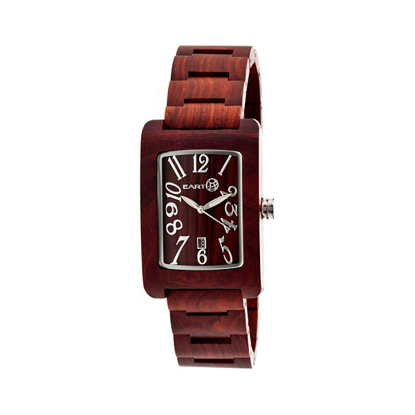 Earth Wood Trunk Red Bracelet Watch with Date ETHEW2603