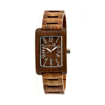 Earth Wood Trunk Olive Bracelet Watch with Date ETHEW2604