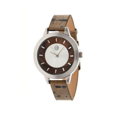 Earth Wood Autumn Dark Brown Strap Watch ETHEW3002