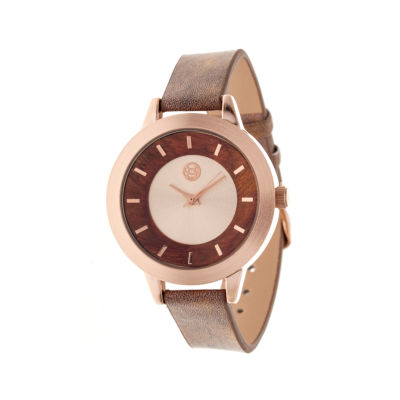 Earth Wood Autumn Red Strap Watch ETHEW3003