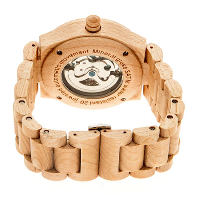 Earth Wood Grand Mesa Automatic Khaki Bracelet Watch ETHEW3101