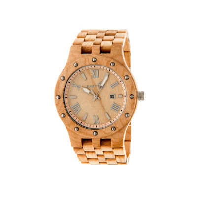 Earth Wood Inyo Khaki Bracelet Watch with Date ETHEW3201