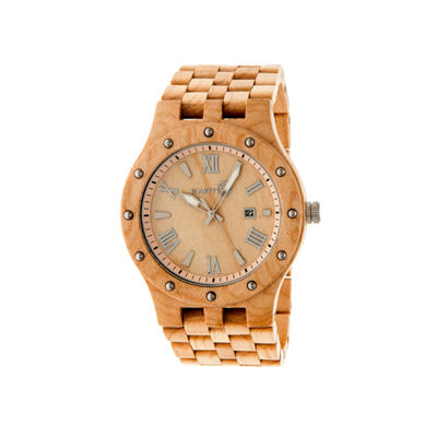 Earth Wood Inyo Khaki Bracelet Watch with Date ETHEW3201